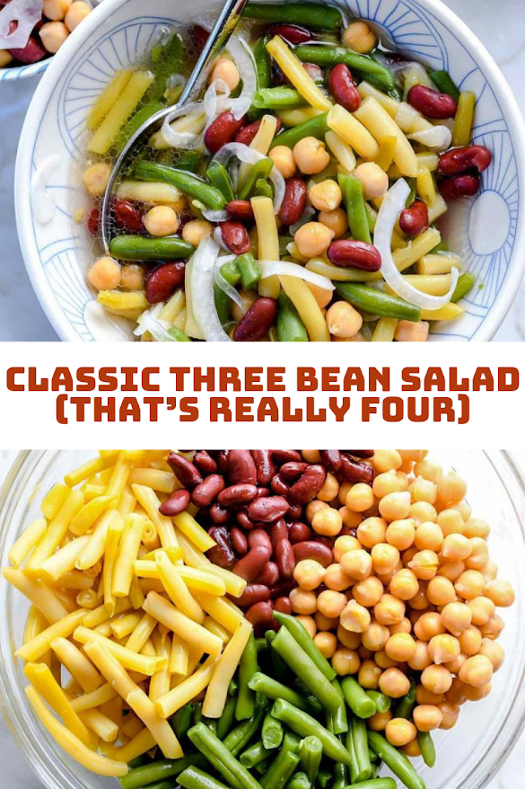 Classic Three Bean Salad (That's Really Four)