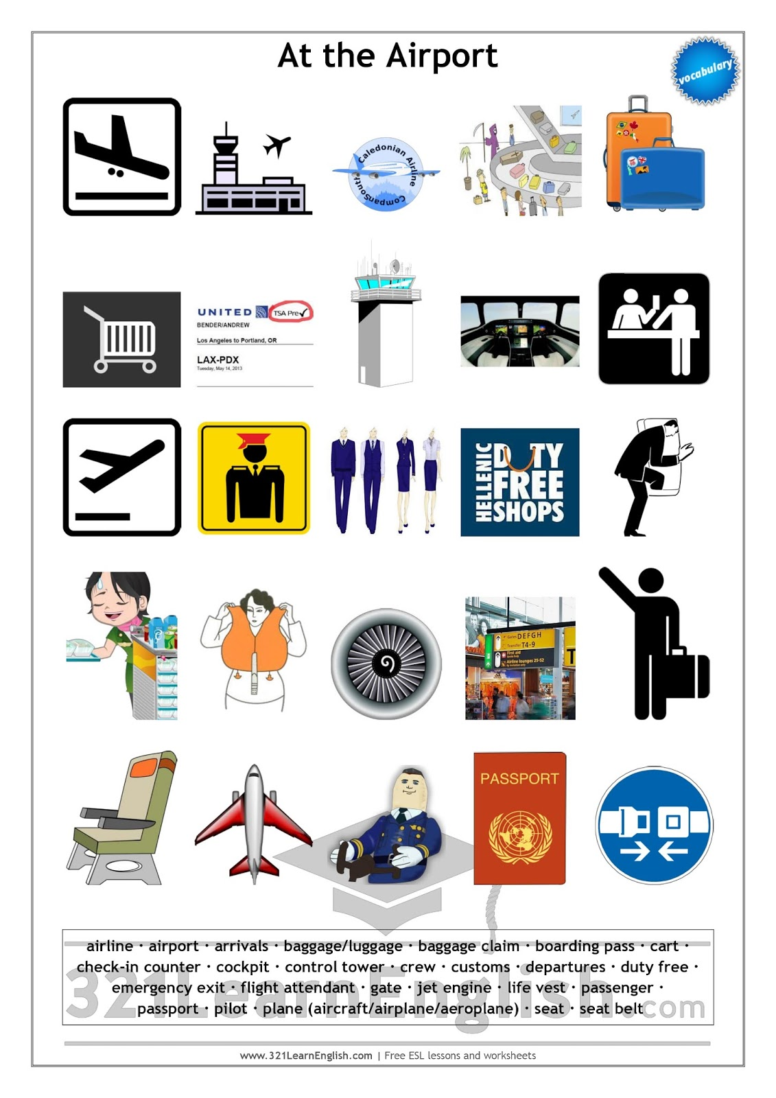 321 Learn English Vocabulary At The Airport Level B1