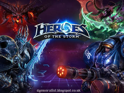 Heroes of The Storm Poster with Logo