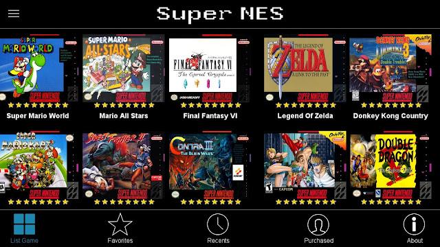 تحميل تطبيق SNES Games محاكي ألعاب لتشغيل العاب الزمن الجميل