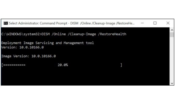 Perbaiki Opsi 'Run As Administrator' Windows 10 - DISM Command