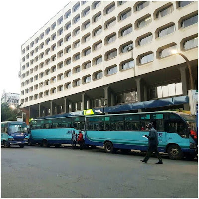 KCB bank KenCom branch in Nairobi on Thursday afternoon happenings photo
