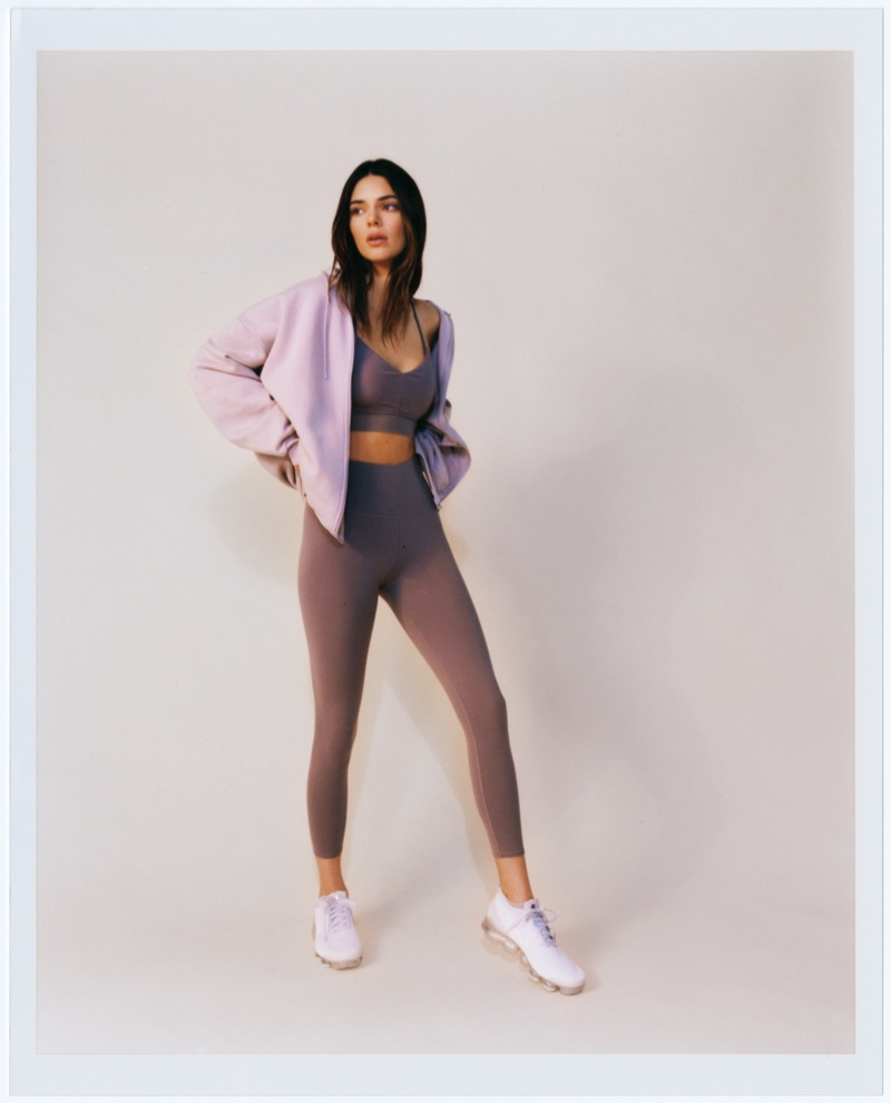 Alo Yoga taps Kendall Jenner to model its Purple Dusk and Lavender Dusk drops.