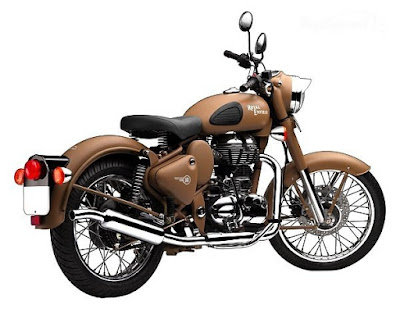 Royal Enfield Classic 500 Desert Storm right side back view