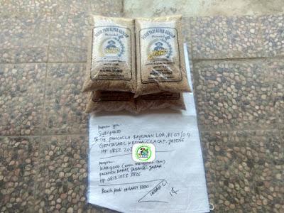 Benih padi TRISAKTI NEW 20 Kg atau 4 Sak  Pesanan SUBIYAKTO Cilacap, Jateng.  (Sebelum Packing)