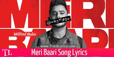 millind-gaba-meri-baari-lyrics