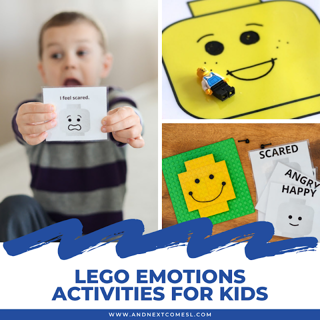 LEGO emotions activities for kids