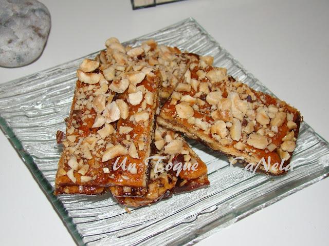Crocante De Toffee Y Avellanas Con Galletas Saladas