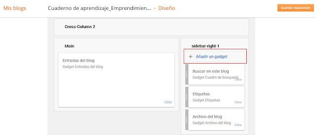 Añadir gadget + visto