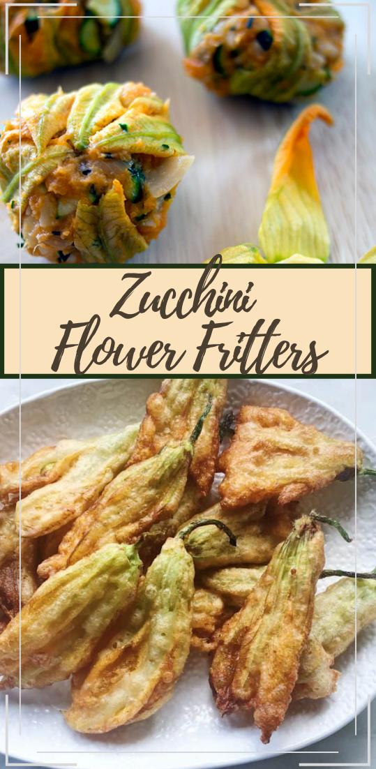 Zucchini Flower Fritters #healthyfood #dietketo #breakfast #food