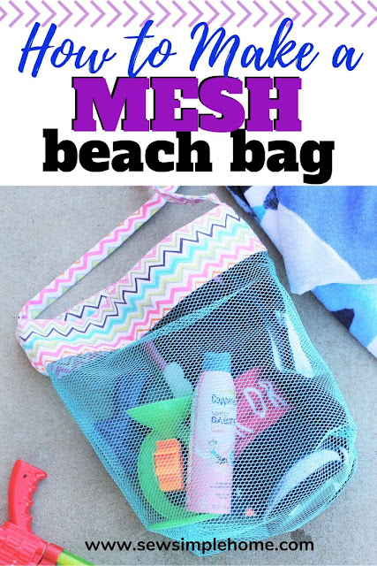 How to Sew a Mesh Beach Bag