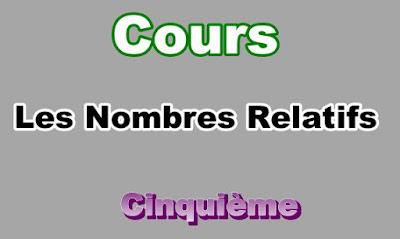 Cours de Nombres Relatifs 5eme en PDF