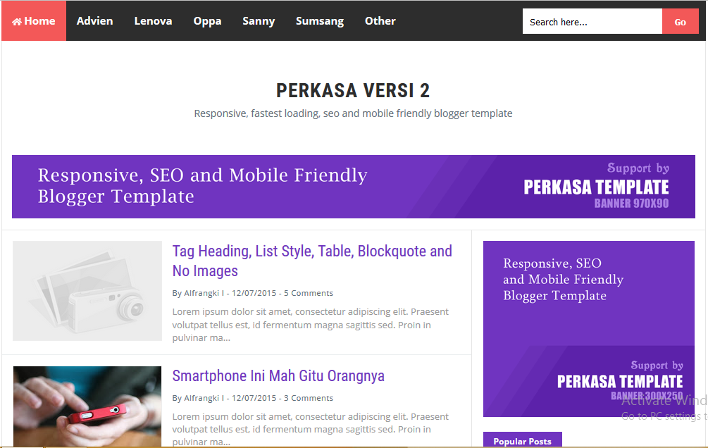 Perkasa V2 High CTR Responsive Blogger Template - Blogger templates ...
