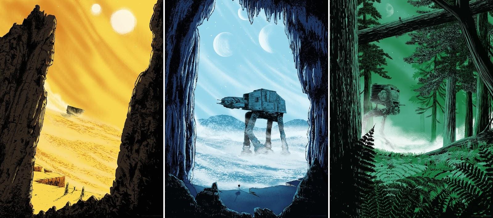 sale retailer ec7ce c72a7 Star Wars  The Original Trilogy Screen Prints by Matt Saunders x Bottleneck  Gallery