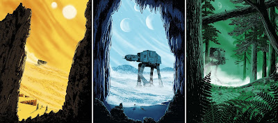 Star Wars: The Original Trilogy Screen Prints by Matt Saunders x Bottleneck Gallery