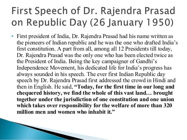 short speech on republic day