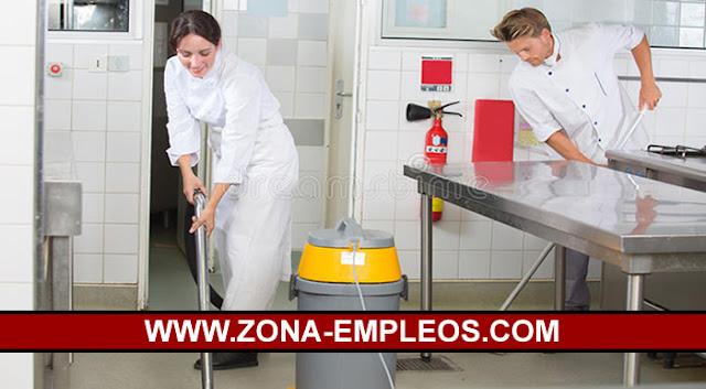SE BUSCA PERSONAL DE LIMPIEZA PARA RESTAURANTE