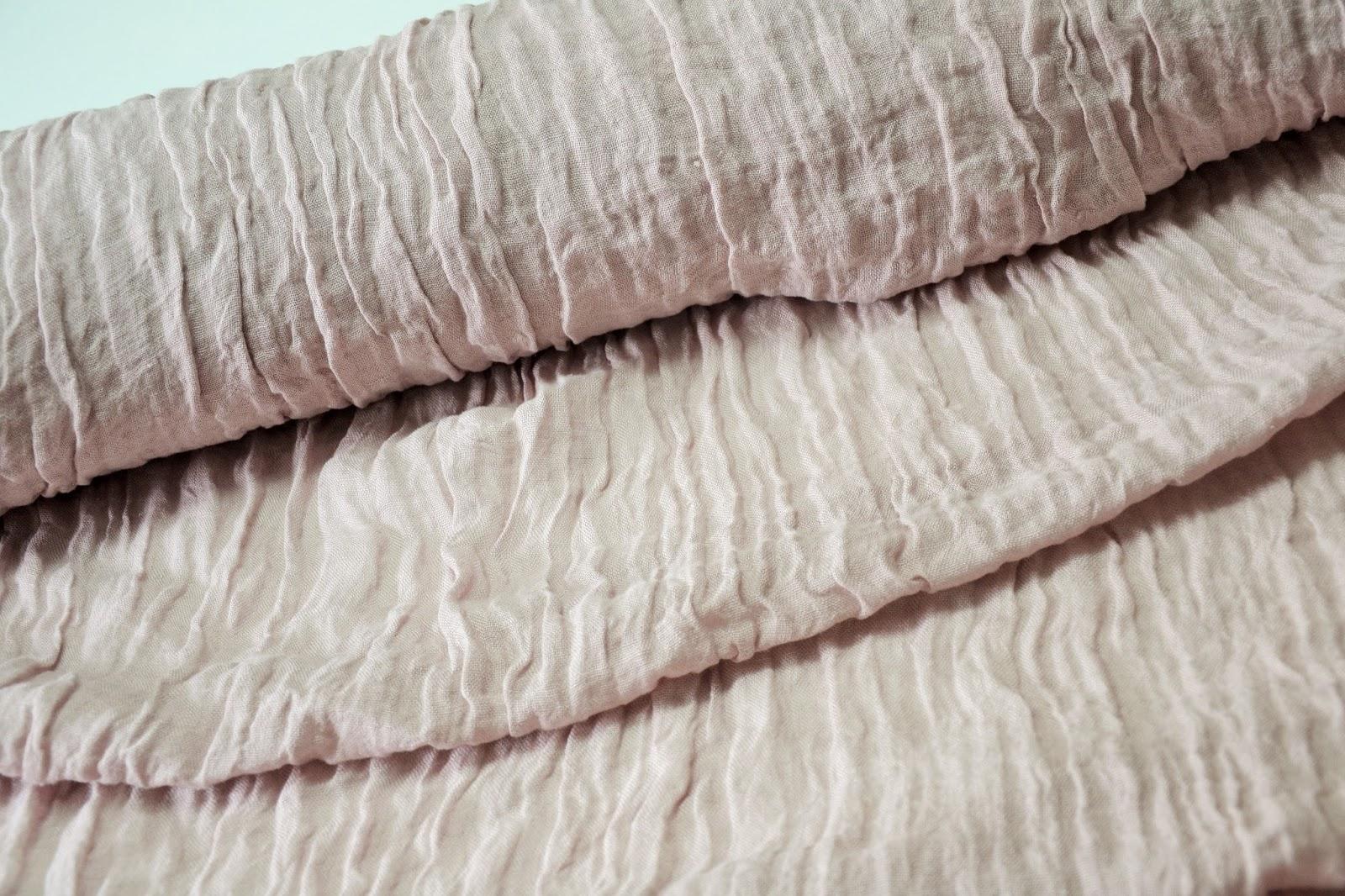 0af6266993 Bio-Textil Polski Len   Kreszowana siatka Lniana PUDROWA LILA