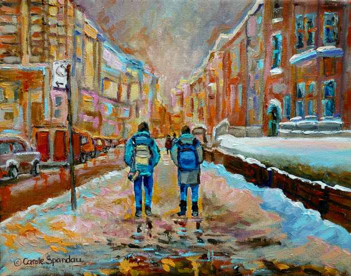 Уличные сцены Монреаля. Carole Spandau