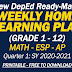 New WEEKLY HOME LEARNING PLANS (Grade 1 - 12) Quarter 1