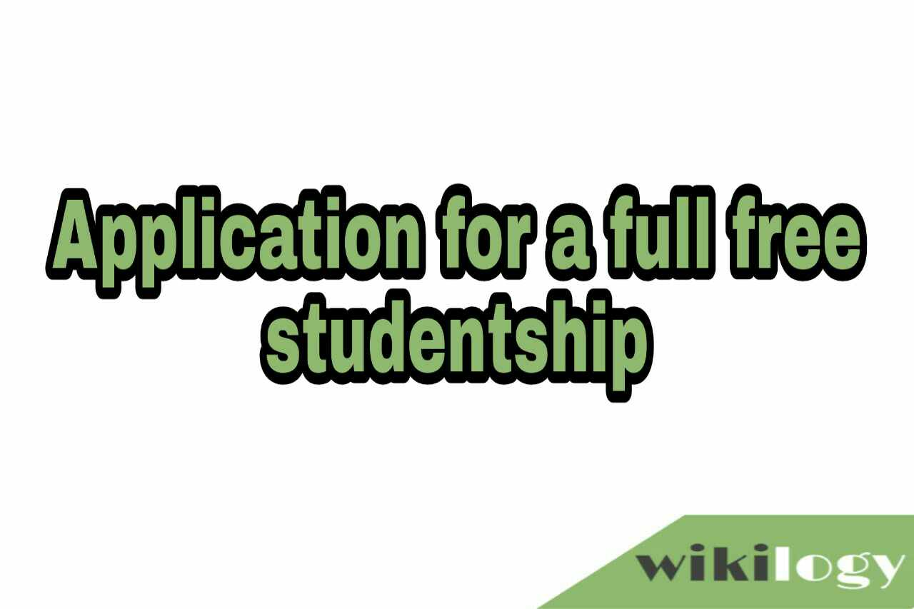 Application for a full free studentship