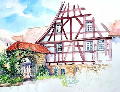 an der Kirche in Untermünkheim