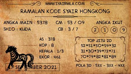 Ramalan HK Malam Ini 17-Sep-2021