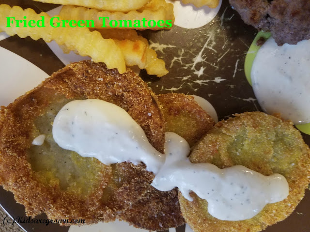 Fried Green Tomatoes with Ranch Dressing