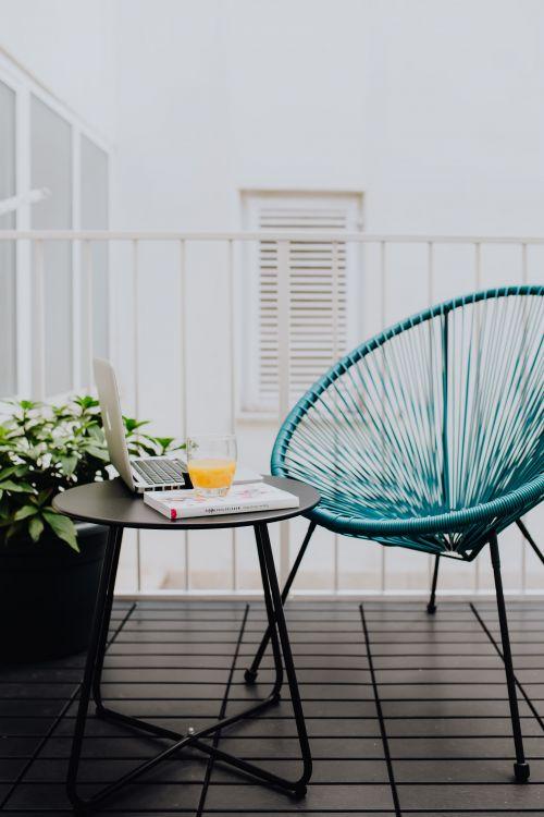 Kolorowy balkon