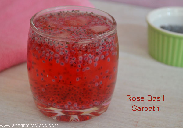 Rose Basil Sarbath