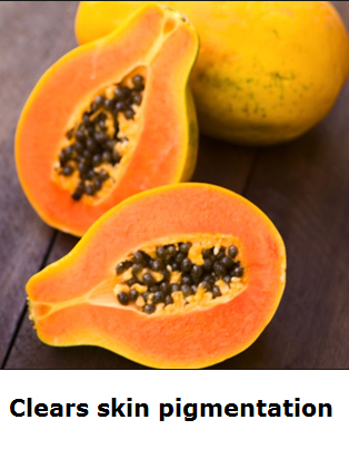 Health Benefits of Papaya - Paw paw Clears skin pigmentation