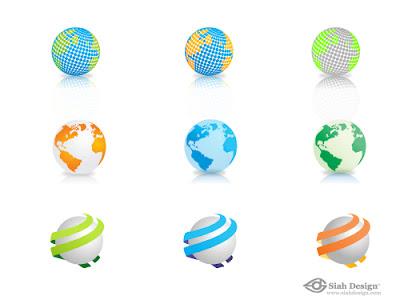 vectores globos terraqueos