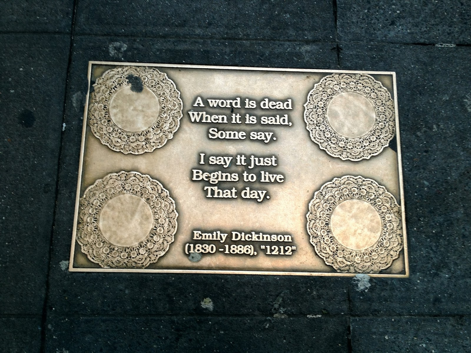 a word by emily dickinson