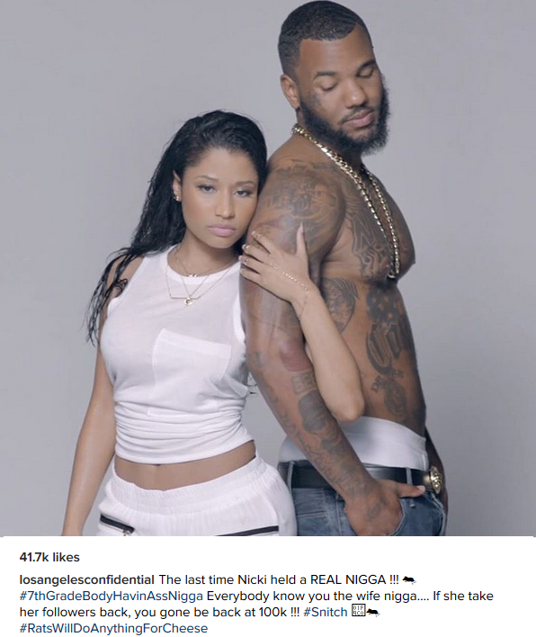 The Game blasts Meek Mill, says he is Nicki Minaj's wife