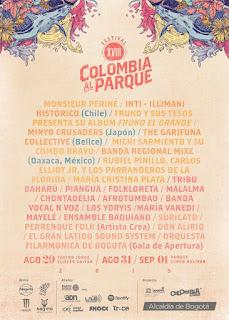 CARTEL XVIII Festival COLOMBIA AL PARQUE   201