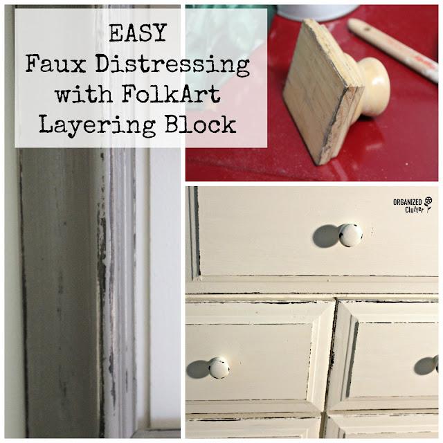 Folk Art Layering Block www.organizedclutter.net