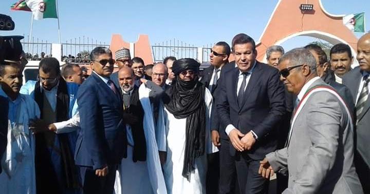 """Autoridades de Argelia reciben en Tinduf ministros de comercio de la RASD, Mauritania y Malí para la inauguración de la exposicion internacional """"Mougar Tinduf 2019"""". - www.ecsaharaui.com"""