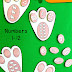 Easter Bunny Paw Prints Number Matching