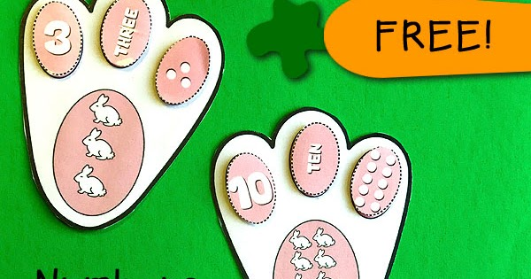 Easter Bunny Paw Prints Number Matching | Totschooling ...