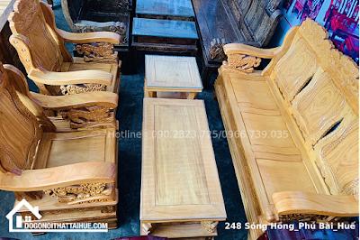 Bộ Salon Nghê (Gỗ Gõ Đỏ) | Nội thất phòng khách Huế | Nội thất gỗ gõ đỏ tại Huế | Salon gỗ gõ đỏ Huế.