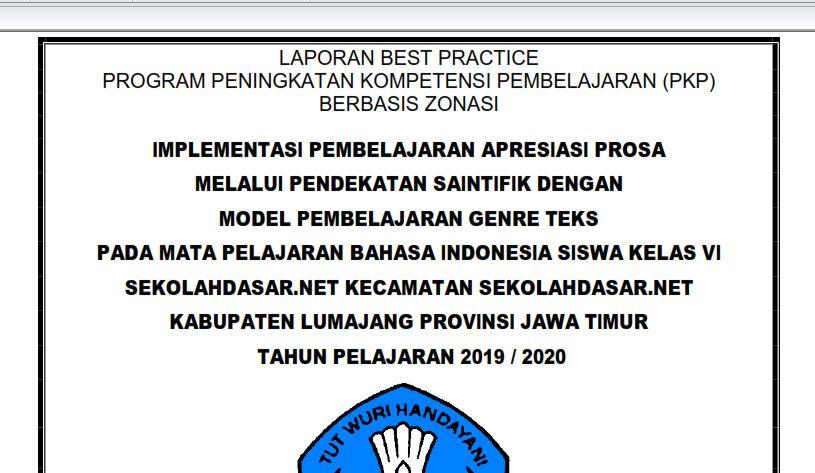 Contoh Laporan Best Practice Pkp Bahasa Indonesia Jenjang Sd Sekolahdasar Net