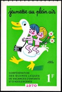Timbre de campagne Jeunesse en Plein Air, 1970 (collection musée)