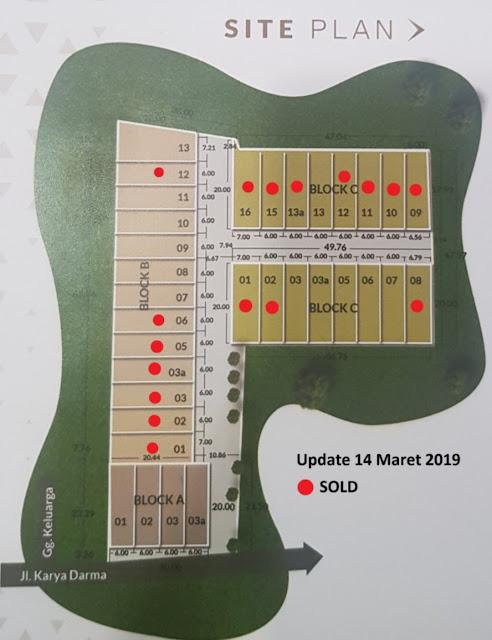 Site Plan Rumah Murah 400 Jutaan Luas Tanah 120 m2 Di Karya Dharma Mansion Medan Johor Medan Sumatera Utara