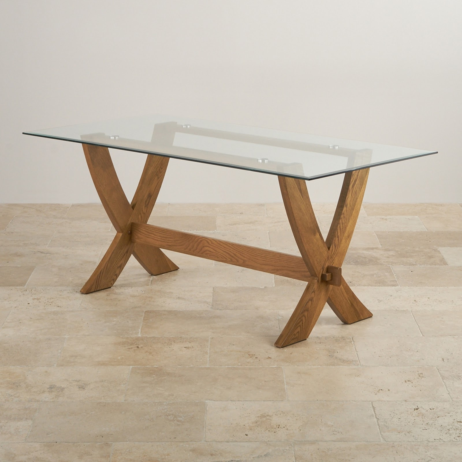 The Brilliant Glass Top Oak Dining Table For Existing Home