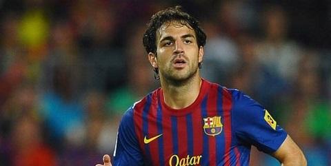 Fabregas trước khi rời khỏi Barca