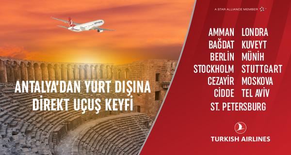 Antalya - Yurtdışı Direkt Uçak Seferleri