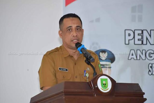 Dinas PMD Gelar Peresmian dan Pengambilan Sumpah Anggota BPD Se Kecamatan Pulau Tiga dan Pulau Tiga Barat