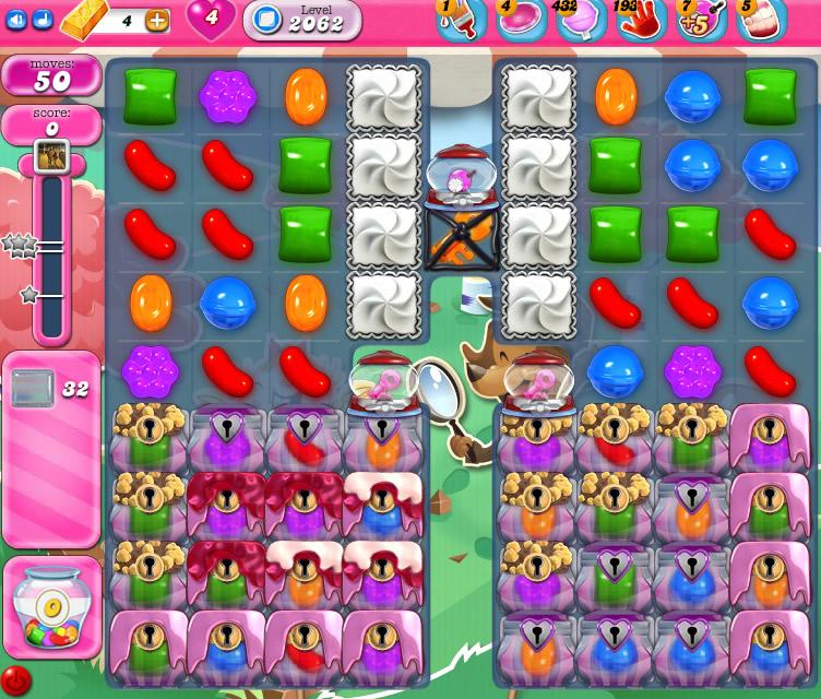 Candy Crush Saga level 2062