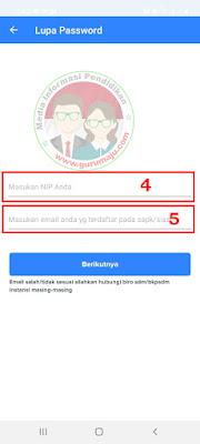 Reset Lupa Password My SAPK BKN