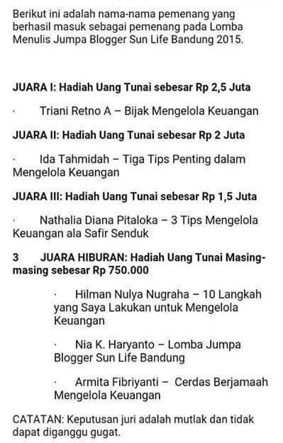lomba blog sunlife indonesia